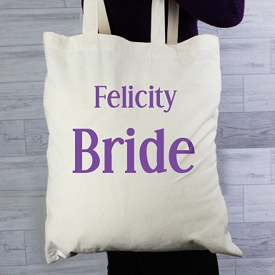 Personalised Bride Cotton Bag