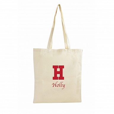 Personalised Red Initial Cotton Bag