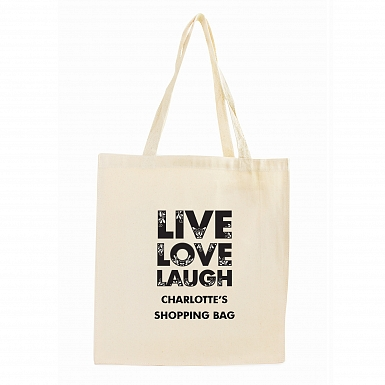 Personalised Live Laugh Love Cotton Bag