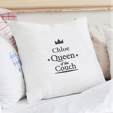Personalised Queen of the Couch Cushion Cover