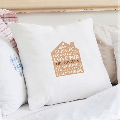 Personalised Family Typography Cushion Cover