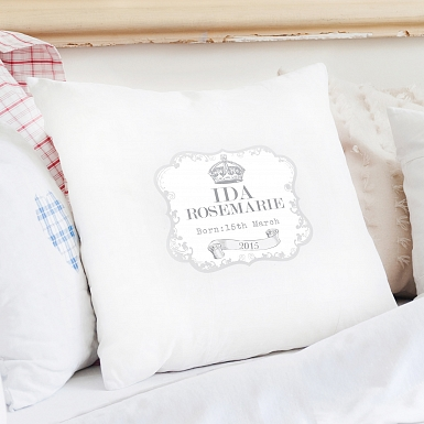Personalised Royal Crown Cushion Cover