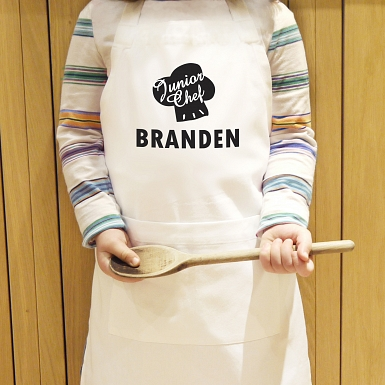 Personalised Junior Chef Kids Apron
