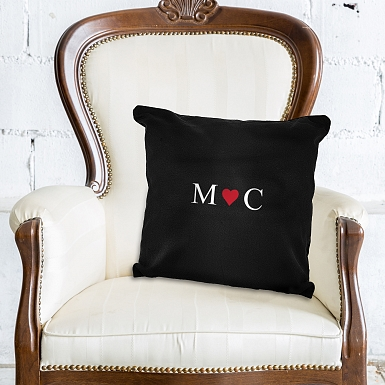 Personalised Monogram Black Cushion Cover