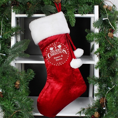 Personalised Christmas Wishes Stocking