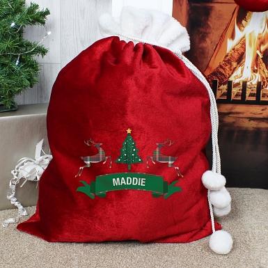 Personalised Nordic Christmas Pom Pom Sack