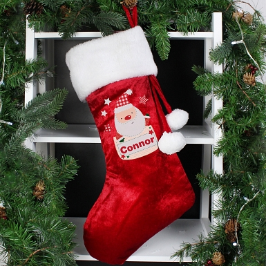 Personalised Pocket Santa Stocking