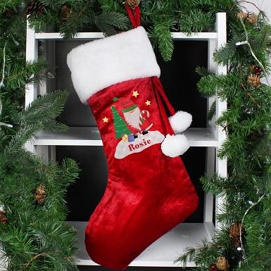 Personalised Tartan Santa Stocking