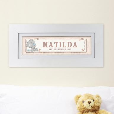 Personalised Tiny Tatty Teddy Name Frame