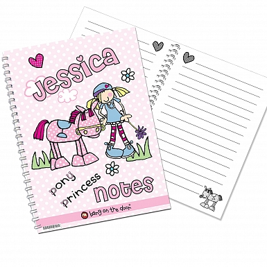 Personalised Bang on the Door Pony Girl A5 Notebook