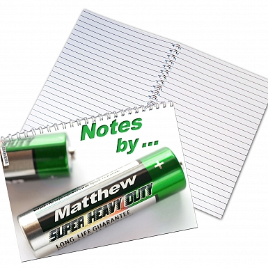 Personalised Battery A5 Notebook
