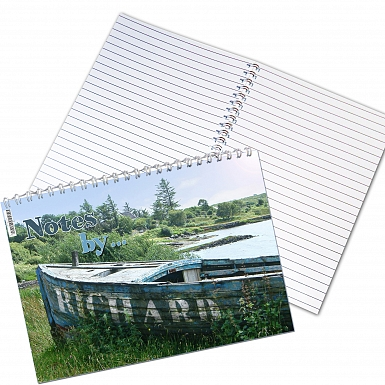 Personalised Old Barge A5 Notebook
