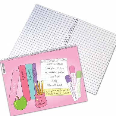 Personalised Teacher Female A5 Notebook