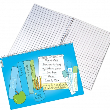 Personalised Teacher Male A5 Notebook