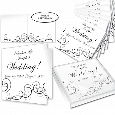 Personalised Wedding Swirl Invitations