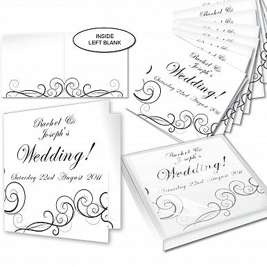 Personalised Wedding Swirl Invitations