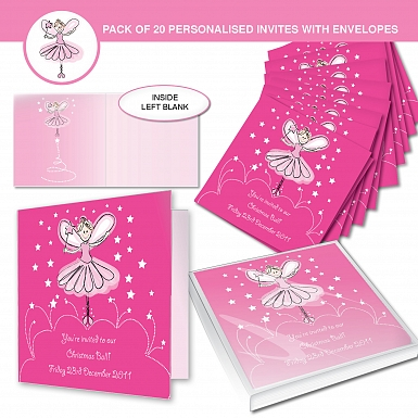 Personalised Christmas Fairy Invitations