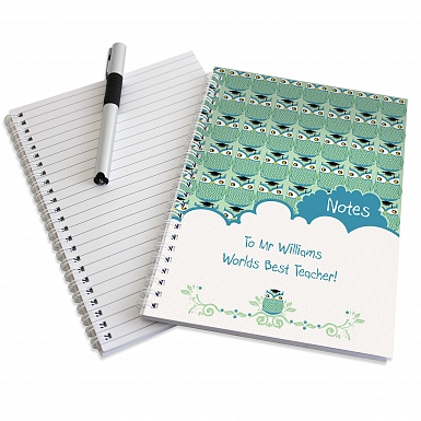 Personalised Mr Owl A5 Notebook