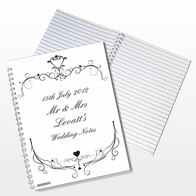 Personalised Ornate Swirl A5 Notebook