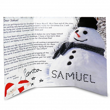 Personalised Snowman Letter From Santa