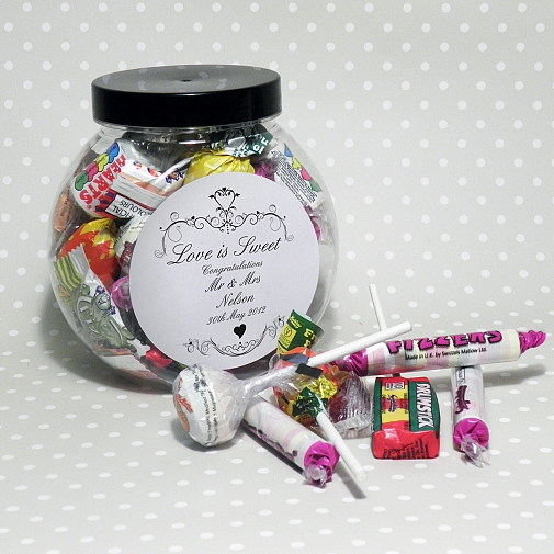 Personalised Ornate Swirl Sweet Jar