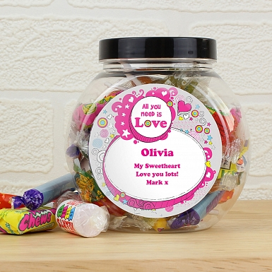 Personalised Groovy Doodle Sweet Jar
