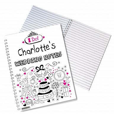Personalised Wedding A5 Notebook