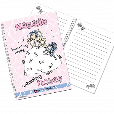 Personalised Bang on the Door Wedding Bride A5 Notebook