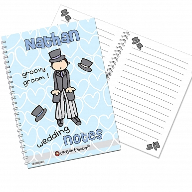 Personalised Bang on the Door Wedding Groom A5 Notebook
