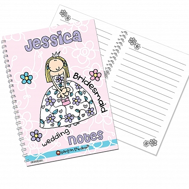 Personalised Bang on the Door Wedding Girls A5 Notebook