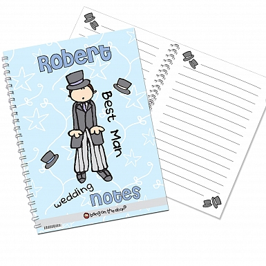 Personalised Bang on the Door Wedding Male A5 Notebook