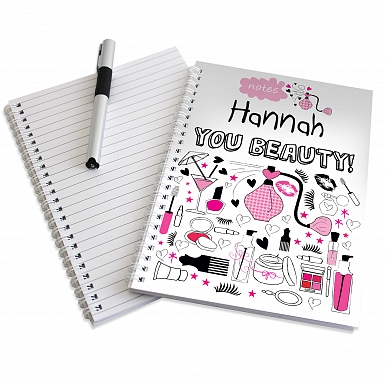 Personalised Pamper A5 Notebook
