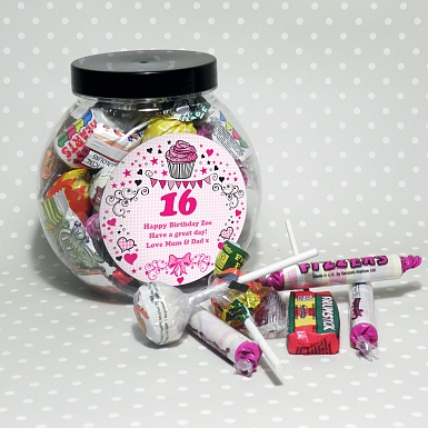 Personalised Big Age Sweet Jar