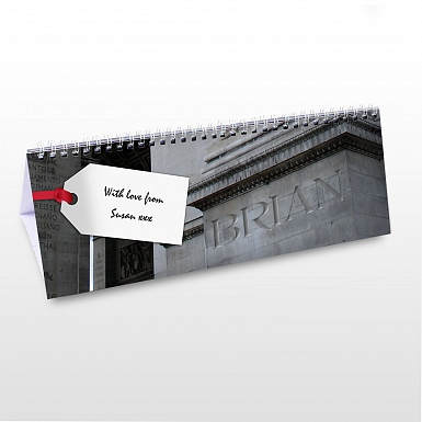Personalised Big Building Desk Calendar