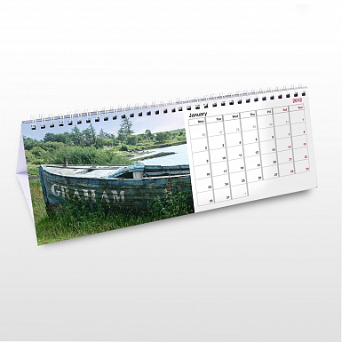 Personalised Boats Desk Calendar