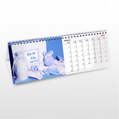 Personalised Baby Boy Desk Calendar