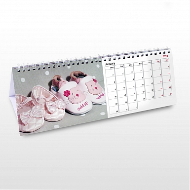 Personalised Baby Girl Desk Calendar