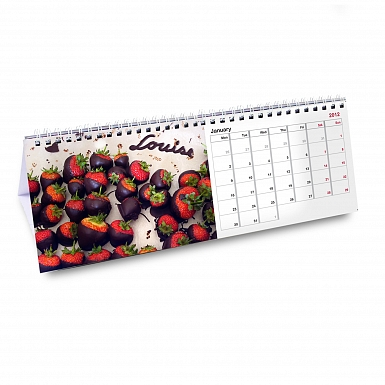 Personalised Milk Chocolates Desk Calendar
