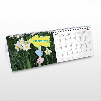 Personalised Girls Desk Calendar