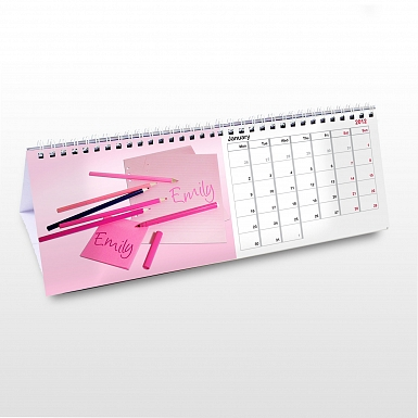 Personalised Little Princess Desk Calendar