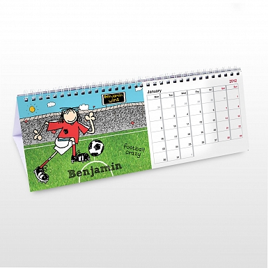 Personalised Bang On The Door Football Desk Calendar