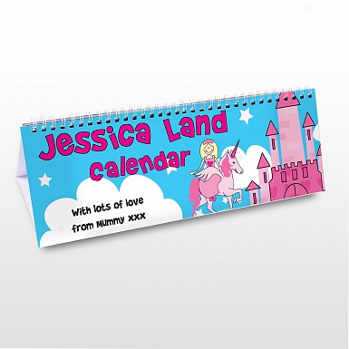 Personalised Princess Desk Calendar