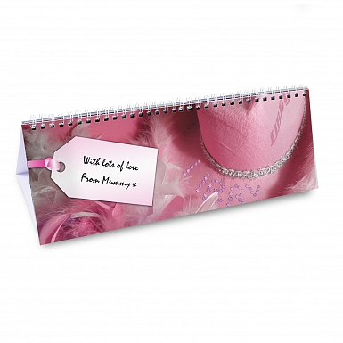 Personalised Girls Pink Desk Calendar