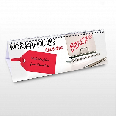 Personalised Workaholic Desk Calendar
