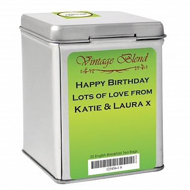 Green Vintage Tea and Tin
