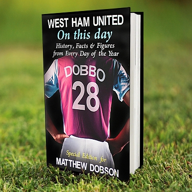 Personalised West Ham On This Day Book