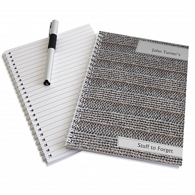 Personalised Knitted A5 Notebook