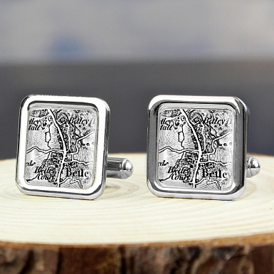 1805 - 1874 Old Series Map Cufflinks