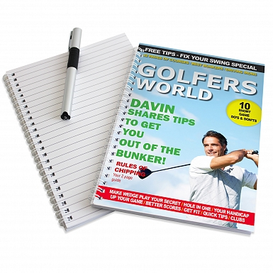 Personalised Golfers World A5 Notebook