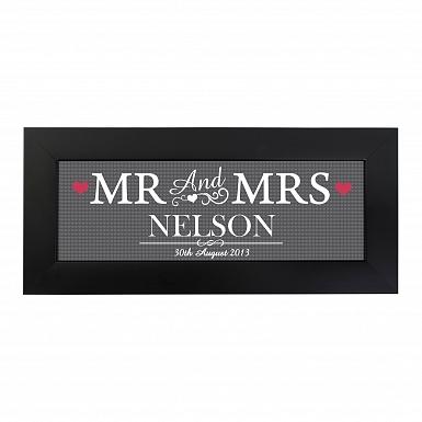 Personalised Mr & Mrs Print in Small Frame UK [United Kingdom]